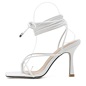 Best white lace up heels Reviews