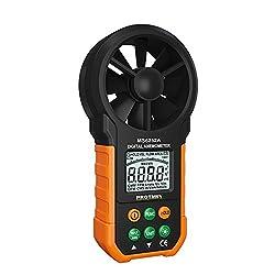 Protmex MS6252B Digital Anemometer Humidity Temperature Testers Meters USB Handheld LCD Electronic Wind Speed Meter Air Volume Measuring Meter Backlight