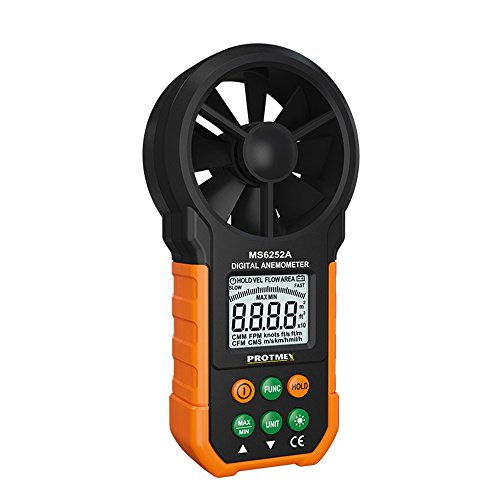 Protmex MS6252B Digital Anemometer Feuchtigkeit Temperaturmessgeraete Meters USB Handheld LCD Elektronisch Windgeschwindigkeit Luftvolumenmess Meter Hintergrundbeleuchtung