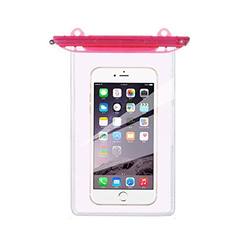 2 piezas impermeable universal de la bolsa del teléfono de ambos lados bolsa de protección seca clara para snorkeling crucero barco natación kayak 4.5 '' × 7 ''