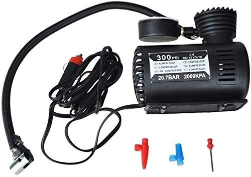 Bomba De Neumáticos 12V Auto Auto Bomba Eléctrica Compresor De Aire Neumático Portátil Inflador De Neumáticos (Color : Black)