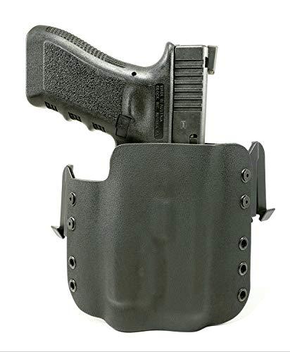 Tru-Fit Tactical OWB Kydex Gun Holster with Quick Clips (Black) for Streamlight TLR-1, TLR-1S, TLR-1HL Available for 50+ Gun Models