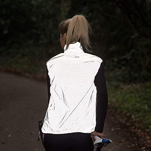 Proviz Women's Reflect 360 Cycling Gilet - Silver, Size 14