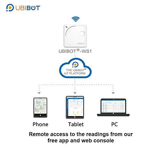 UbiBot Thermometer, kabellos, WLAN, ferngesteuert, Temperatur, Luftfeuchtigkeit, Licht, Umwelt-Sensor, Mobile App Benachrichtigungen, Lot plattform