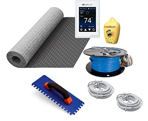 Suntouch Warmwire Radiant Floor Heating Kit - 60 Square Feet - Includes Suntouch Connect Wifi Thermostat, HeatMatrix Membrane, 240060WB-CST Heat Cable and Safe Installation Tools
