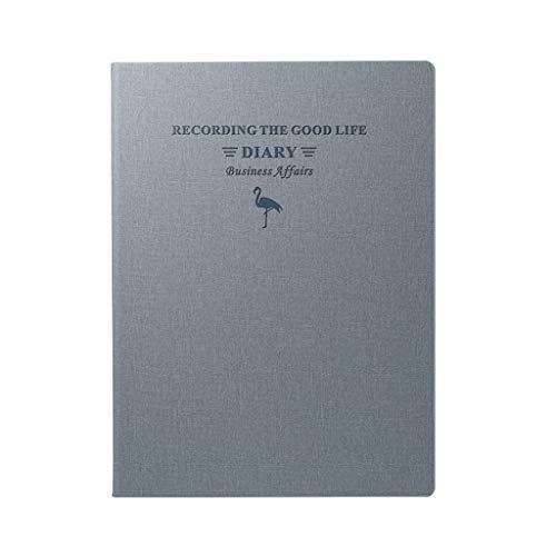 XXT Espesar Simple Cuaderno Estudio Exquisito portátil Bloc de Notas de Office Diary (Color : Gray, Size : 21.5 * 28.8cm)