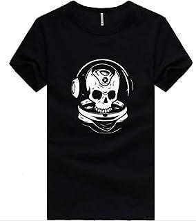 Fashion City Musical Skeleton Printings Simple Style Black T-Shirt For Men(Dt223-B)