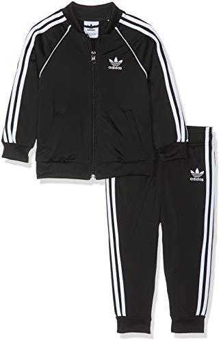 adidas Superstar Suit Chándal, Unisex bebé, Negro/Blanco, 86 (12/18 Meses)