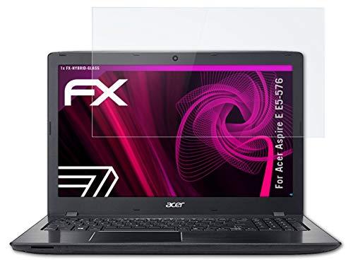 atFolix Glasfolie kompatibel mit Acer Aspire E E5-576 Panzerfolie, 9H Hybrid-Glass FX Schutzpanzer Folie