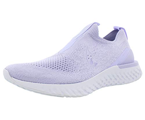 Nike Women's Epic Phantom React Flyknit Running Shoes (9, Lavender Mist/Lavender Mist/White)