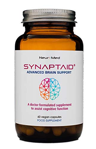 Synaptaid Advanced Brain Support Supplement to Assist Cognitive Function Vegan 60 Capsules (Single Pack)