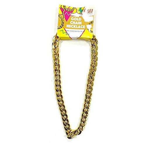 Stylex Party Ltd nep gouden ketting ketting mooie jurk jaren 1980 kostuum dikke ketting
