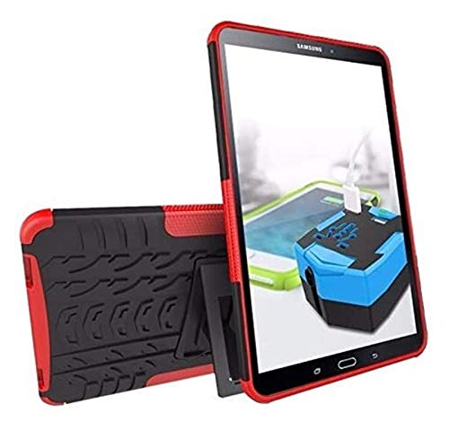 ZRH Accesorios De Pestañas para Samsung Galaxy Tab a 10.1 T515 / T510 SM T580 T585, Silicon TPU + PC Shell Stand Stand Tapa + Pen para Galaxy Taba 10.1 (Color : Rose Red, Size : Tab A 10.1 T515 T510)