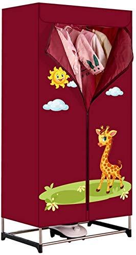 ~ Secadora portátil plegable, toalla completamente automática Secadora de ropa interior Secadora de dormitorio en casa Secadora Percha de secado rápido Armario de secado de aire caliente interior