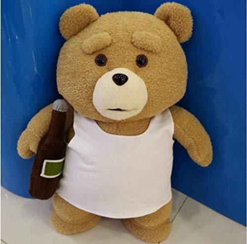 FDFSDAMAI Film Ted Bär Ted 2 Plüschtiere In Schürze Weiche Kuscheltiere Plüsch EIN Geburtstagsgeschenk für einen Guten Freund 45Cm