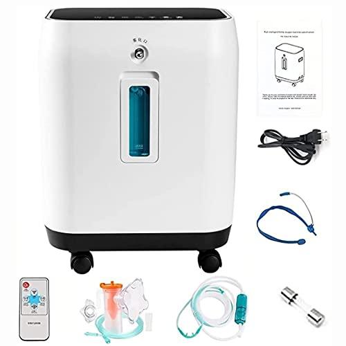 HUALUWANG Concentrador de oxígeno 2-10L / min Máquina de oxígeno, Generador de O2 de Gran Capacidad con Apagado programado, Tecnología de tamiz Molecular, Control Remoto inalámbrico