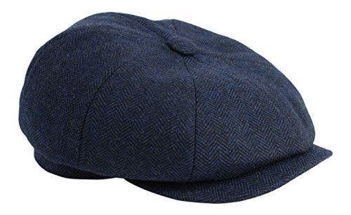 Gamble & Gunn 'Shelby' Newsboy Button Top Cap Blu A spina di pesce Marina Militare L