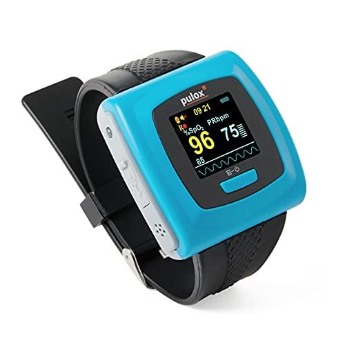 Pulsossimetro PULOX PO-400 saturimetro con il braccialetto e...