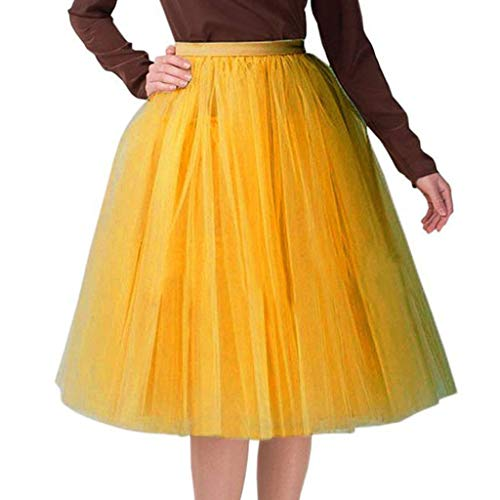 Lialbert Tutu Damenrock Bunt TüLlrock Tellerrock Party SportröCke Retro 50s Plisseerock Karneval Kleid Vintage Petticoat Rockabilly Ballettkleidung Unterkleid