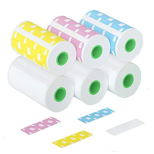 Thermopapierrollen, 6 Rollen Bär und Leer Thermorollen Direktes Thermopapier für Thermopapier A6 Thermodrucker, 56mm x 30mm