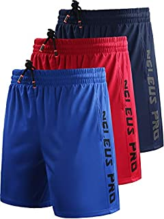 Neleus Men's Lightweight Workout Running Athletic Shorts with Pockets