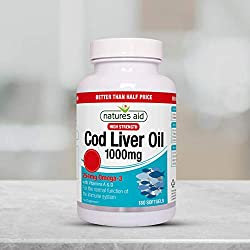 High Strength - each softgel capsule provides a full 1000 mg of pure Cod Liver Oil Typically providing 254 mg of Omega-3 essential fatty acids - including 80 mg EPA and 90 mh DHA With Vitamins A and D to contribute to the normal function of the immun...