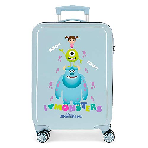 Disney Boo! Cabin Suitcase Blue 38 x 55 x 20 cm Rigid ABS Side Combination Closure 34L 2.7 kg 4 Wheels Double Hand Luggage