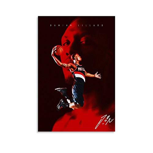 GIUU Para póster de baloncesto, cuadro decorativo, lienzo para pared, sala de estar, póster, dormitorio, pintura, 50 x 75 cm