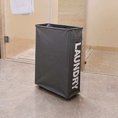 LALAWO Wäschekorb Wäschekorb-Aufbewahrungsbox-Haushalts-einzelnes Fach mit fahrbarer schmutziger Kleidung Ablagefach (Farbe : B)