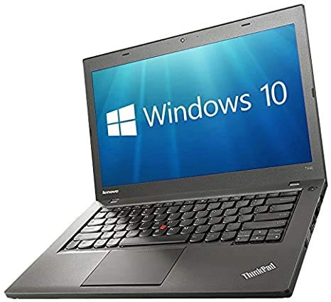 "Lenovo ThinkPad T440 Black 14"" Laptop Core i5-4300U, 1.90GHz, 8GB RAM, 256GB SSD with Windows 10 Pro (12 Months RTB Warranty) (Renewed)"