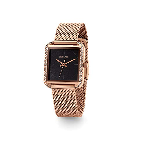 NOELANI Damen Analog Quarz Uhr mit Edelstahl Armband 2022461