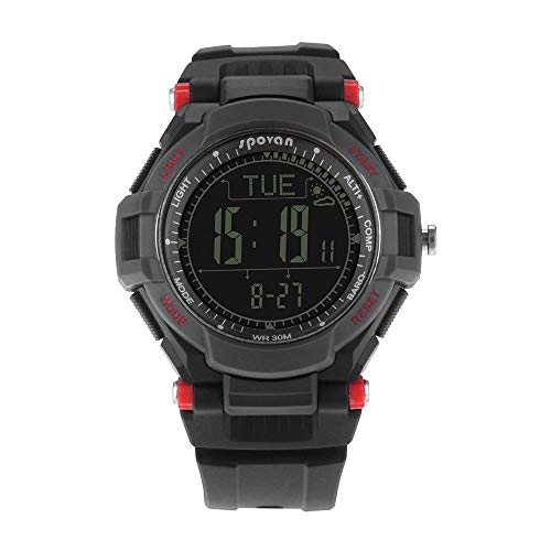 LUGEUK Multifunktionale Outdoor Sport Bergsteigen Uhr Metronom Kompass Elevation Watch (Color : B)
