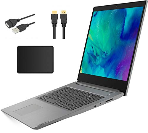 """Lenovo Ideapad Premium 17.3"""" HD+ LED Backlight Laptop Bundle Woov Accessory   AMD Ryzen 7 3700U   12GB DDR4   128GB SSD+1TB HDD   Media Card Reader   AMD Radeon Vega 10   Windows 10   Platinum Gray"""