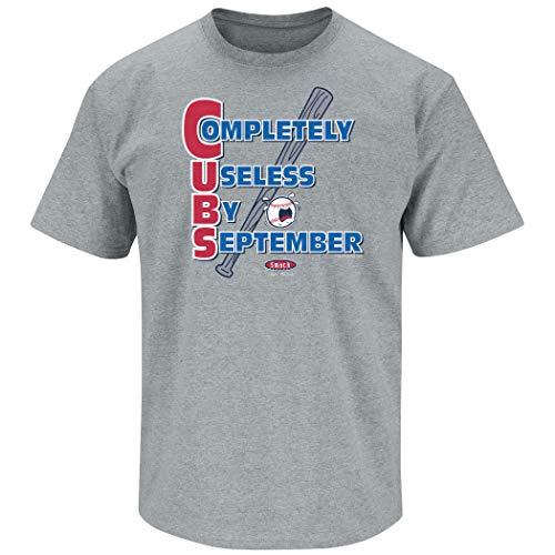 St. Louis Cardinals Fans Cubs, und völlig Unnützes von September grau T-Shirt (S-5X), Unisex-Erwachsene Herren Damen, grau, XXX-Large