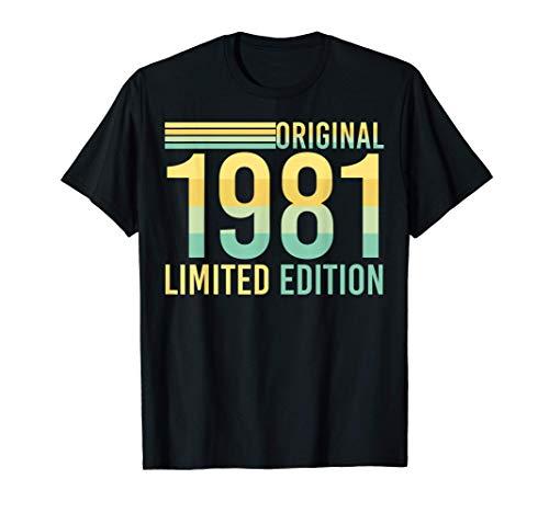 Regalo de cumpleaños número 40 de enero de 1981 Camiseta