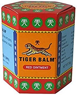 Tiger Balm Red Extra strength Herbal Rub Muscles Headache Pain Relief Ointment, Big Size 30g (Thailand Edition)