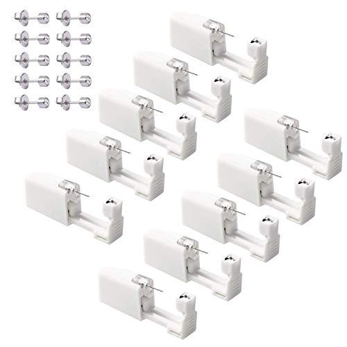 10er Set Ohrring Pistole Set Einweg-ohrlochstechwerkzeugset Asepsis Pierce Kit Mit Ohrstecker Für Ohren Piercing Ohrringe