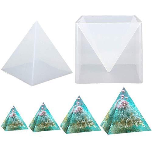VOANZO Pyramid Silicone Mold 15CM DIY Ornament Decoration Mould Epoxy Color Cream Dried Flower Mould Transparent