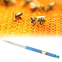シンプルなスプリング式プランジャー養蜂装置蜂接ぎ木ツール、農場の女王蜂飼育用プラスチック養蜂養蜂ツール女王蜂飼育