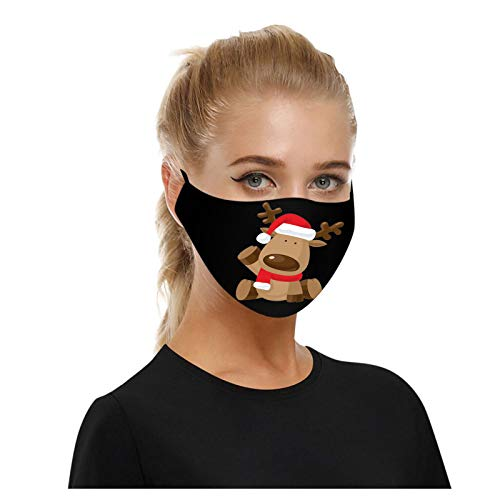 NZND 𝐌𝐚𝐬𝐜𝐚𝐫𝐢𝐥𝐥𝐚𝐬 Adulto Navidad Fiesta de Disfraces Mascarada Estampada de Reno...