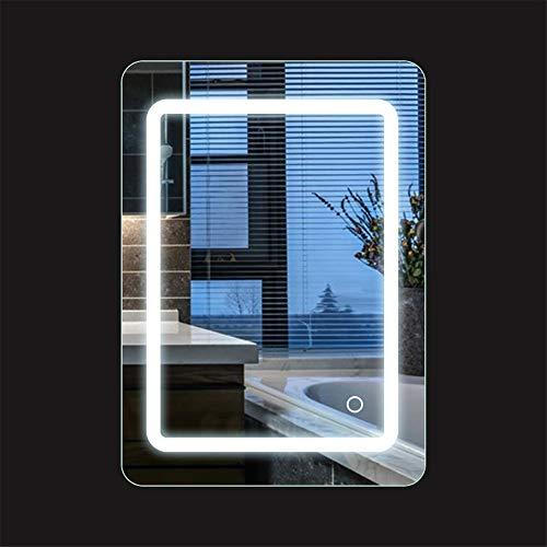Specchio bagno con luce, Specchio da bagno, 9W + bianco freddo + IP67 impermeabile, 50 * 70 cm