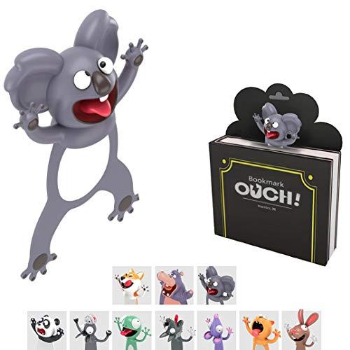 KXT Witzige 3D Cartoon Tier-Lesezeichen - Lustiges Geschenk für Kinder und Erwachsene (Koala)
