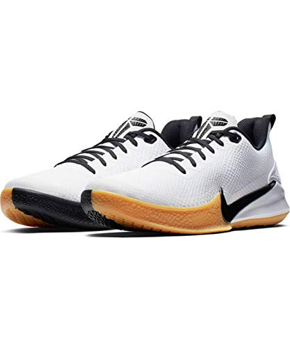 Nike Men's Mamba Focus Basketball Shoes, White/Black/Gum/Light Brown, 9 D US