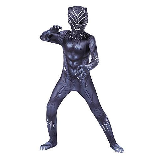 Ropa de Pantera Negra Avengers 3 Traje de Cosplay Medias siamesas Disfraces de Disfraces de Halloween Vestir Zentai Onesie Adulto/Niños,A-150~160 cm