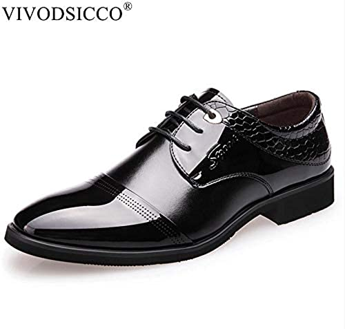 LOVDRAM schuhe De Cuero para Hombre herren De Negocios Clásicos schuhe De Vestir Estilo De Moda Hombre schuhe De Cuero Social Sapato Masculino Oxford con Cordones Zapato Plano De Boda