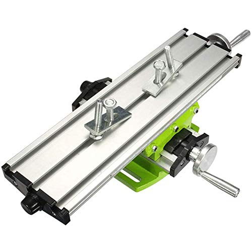 Croix de Haute précision Table Diapositives, Multi-Function Cross Table, Mini-Mini Table Drill Support Installation Fraiseuse,Argent