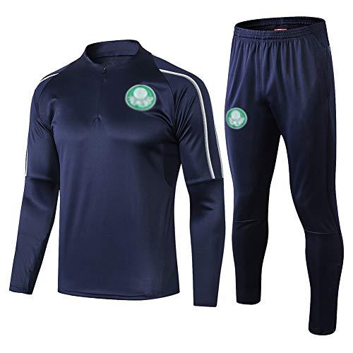 L-YIN Traje entrenamiento de fútbol Club de adulto Camiseta de la Juventud de manga larga y pantalones de jogging BreathableTop QL0260 Traje Chándales (Color : Navy blue, Size : M)