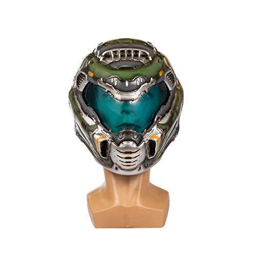 Chiefstore Doomguy Helm Deluxe Harz Doom Slayer 1: 1 Vollkopf Maske für Spiel Cosplay Kostüm Requisiten Merchandise