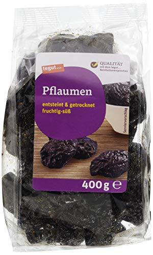 tegut... Ganze getrocknete Pflaumen 400 g - Trockenfrüchte entsteint ungezuckert ungeschwefelt mit natürlichen Ballaststoffen