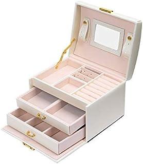 Meerveil Boîte à Bijoux, Coffret pour Bijoux Boîte à Maquillage Bijoux et cosmétique Beauty Case à 3 Couches en Simili Cui...